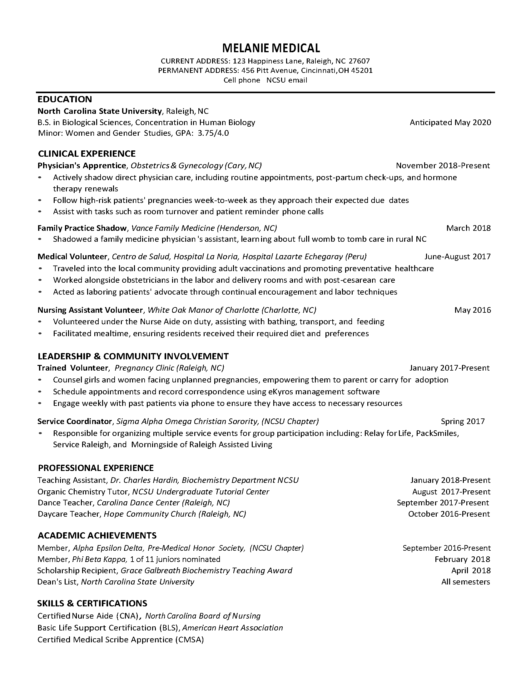 resumes for school students