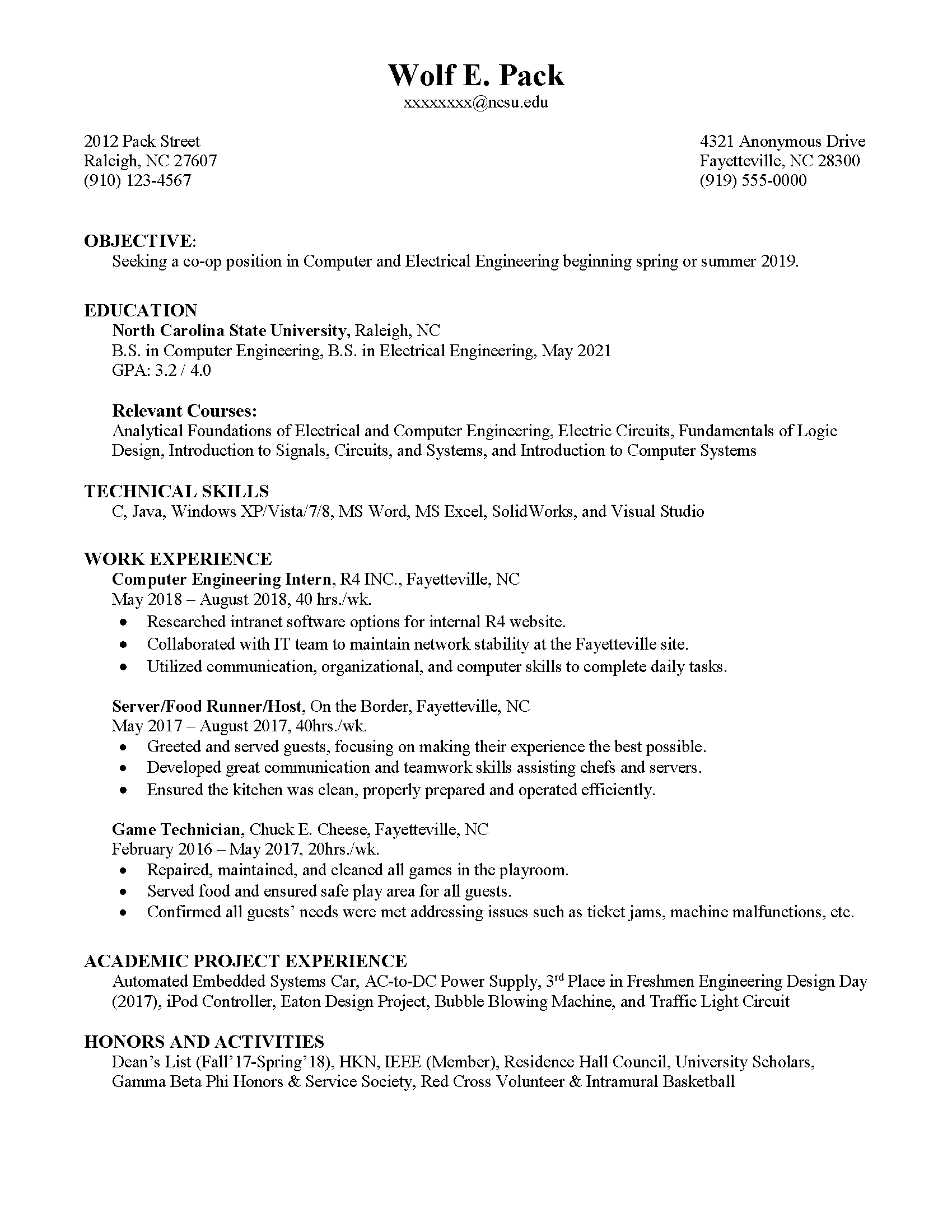 resume professional services