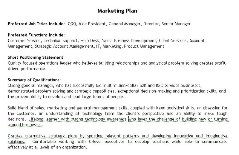 The Best Job Search Tool Ever Career Sherpa - marketing objective for resume