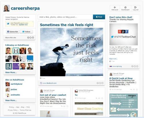 Career Sherpa RebelMouse