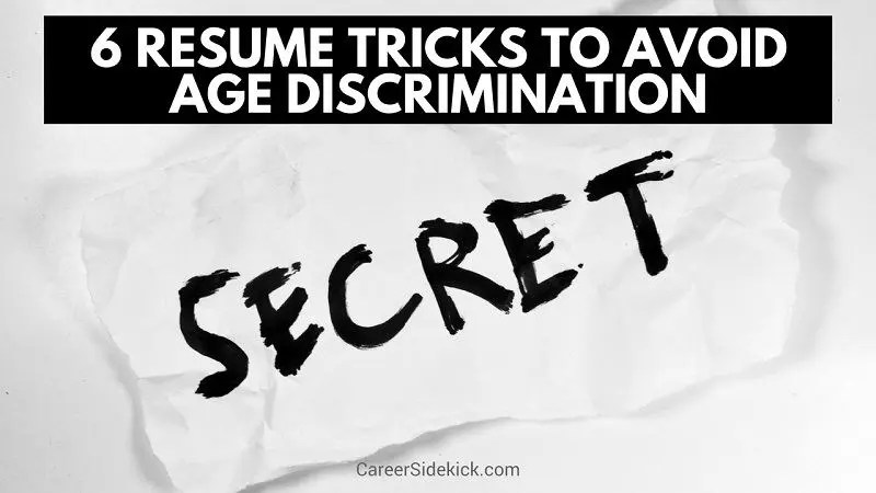 How to Avoid Age Discrimination When Applying For Jobs 6 Resume
