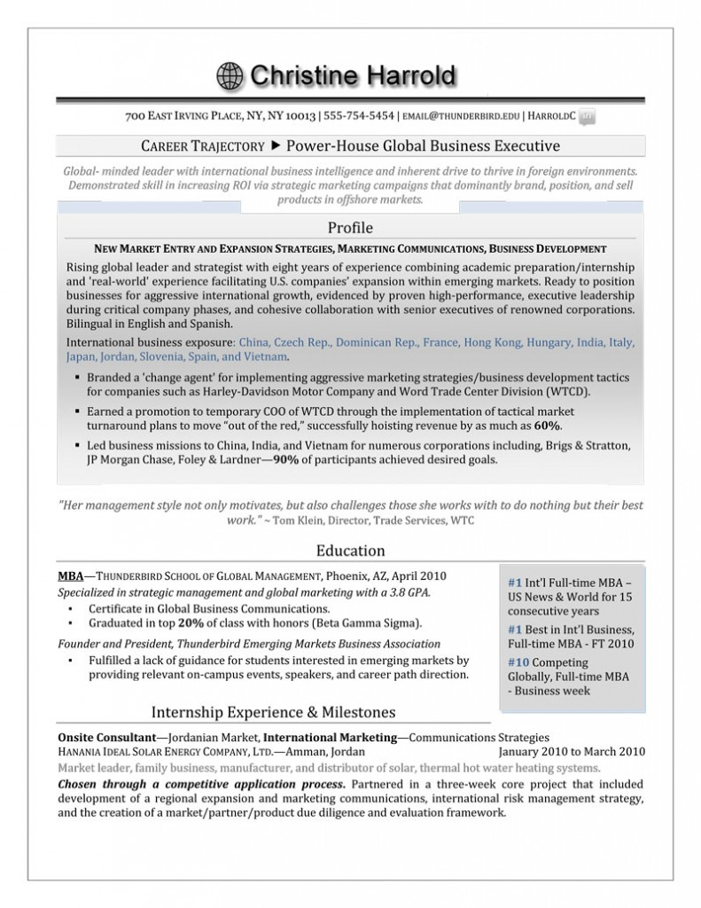 resume writing packages