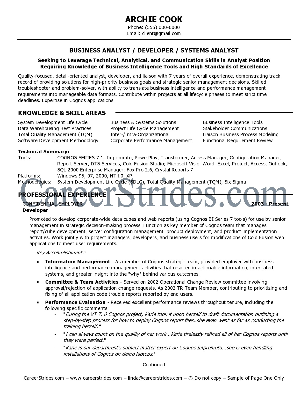 it business analyst cv cv examples business analyst service resume ...