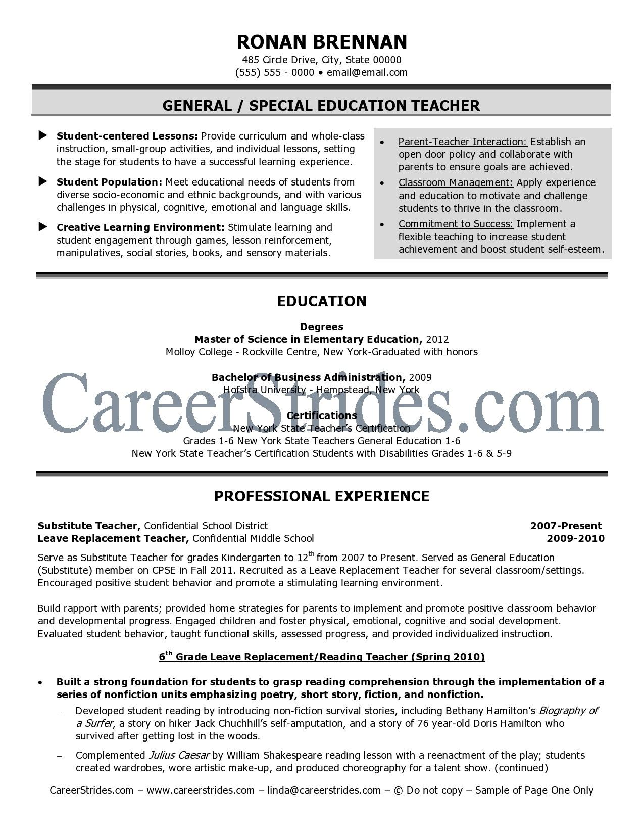 Middle School Science Teacher Resume. Science Teacher Resume Format Luxury  High ...