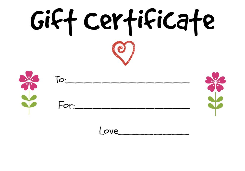 Homemade Gift Vouchers Templates simpletext - make your own voucher