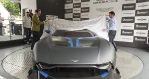 Aston Martin Vulcan lights up Goodwood