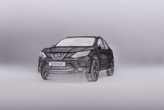 Nissan Creates World's Largest 3D Pen Sculpture: A Stunning Full-Sized Qashqai Crossover