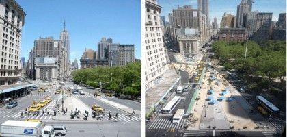 Madison Square avant et après