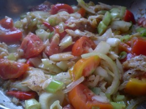 Game day tomato and saltfish? | CaribbeanPot.com