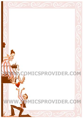 Partecipazione Giulietta e Romeo formato verticale