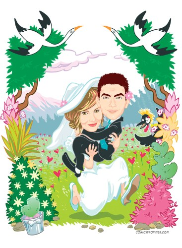 caricature_matrimonio