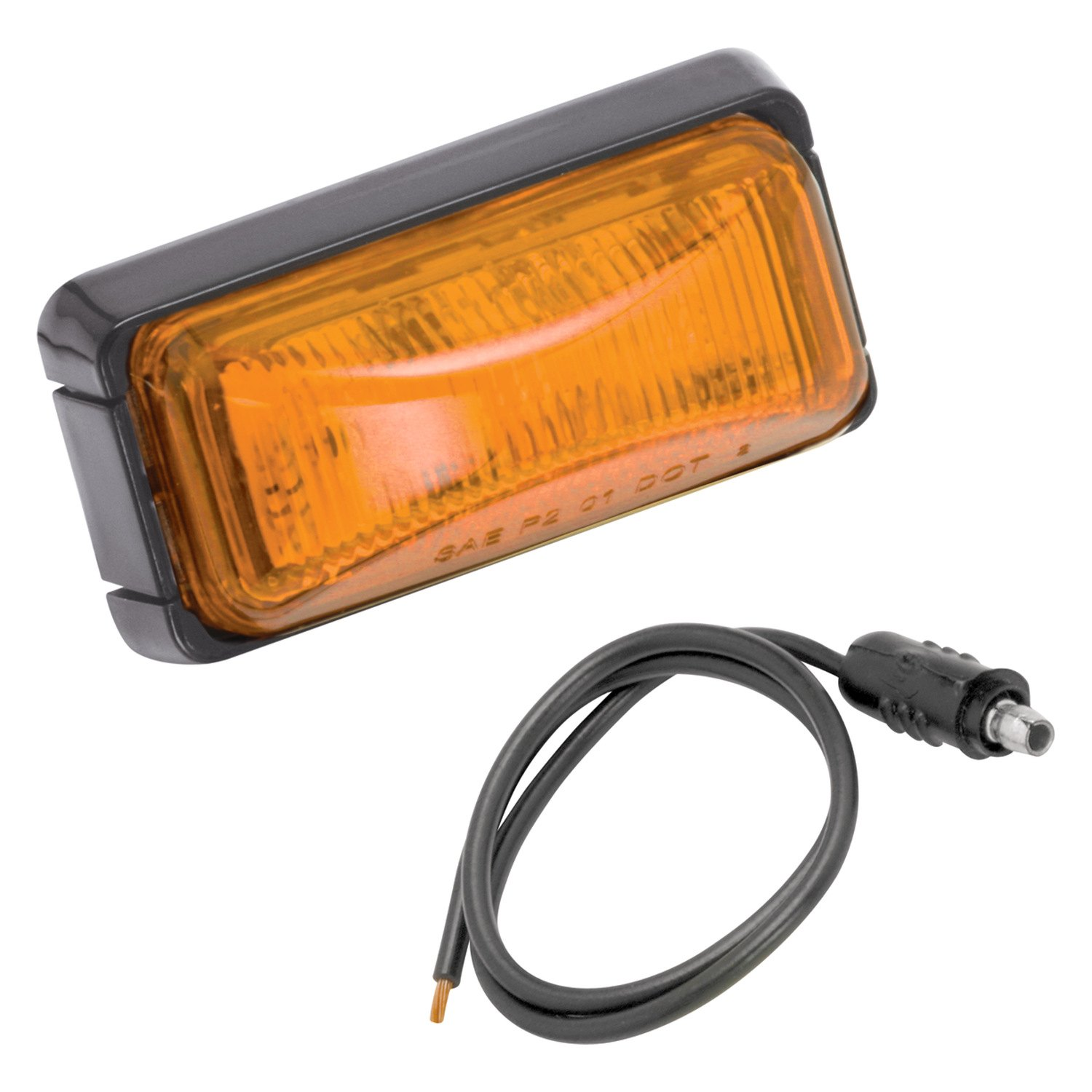 Amber Led Wesbar 401580 Amber Led Rectangular Clearance Marker Light