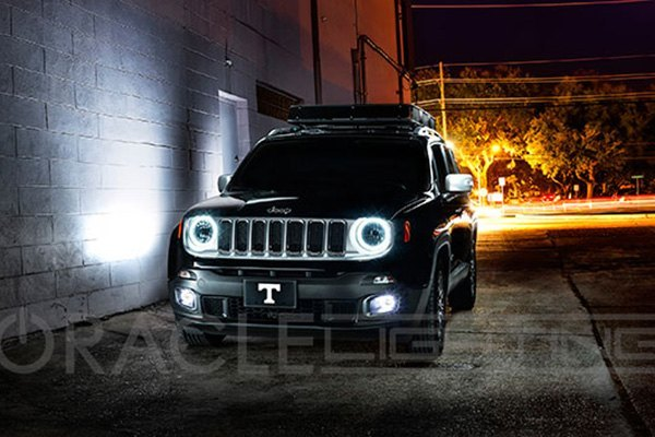 Lighting Retrofit Oracle Lighting® - Jeep Renegade 2015 Color Halo Kit For