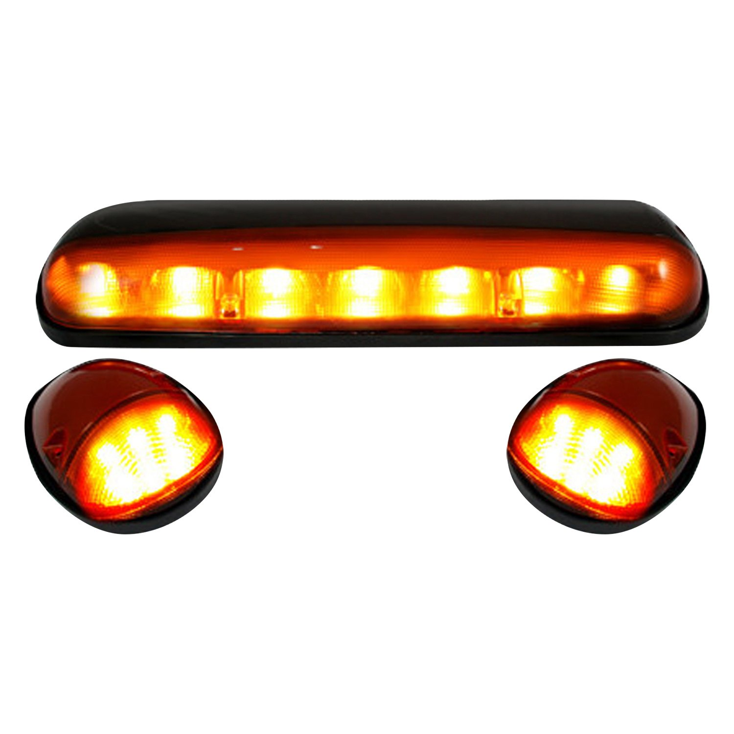 Amber Led Recon 264155am Black Amber Led Cab Roof Lights