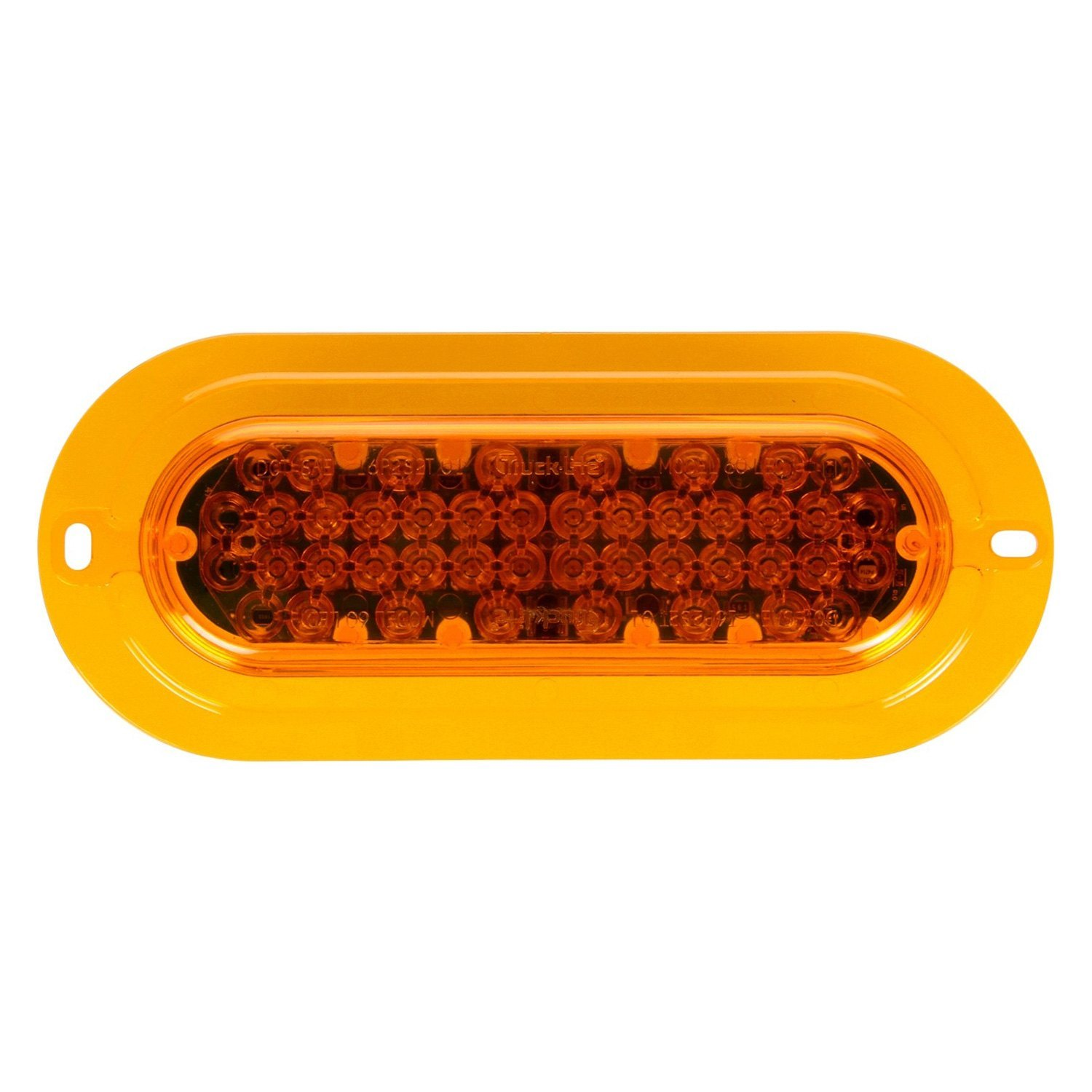 Yellow Led Lights Truck Lite 60126y Super 60 Flange Mount Yellow Led