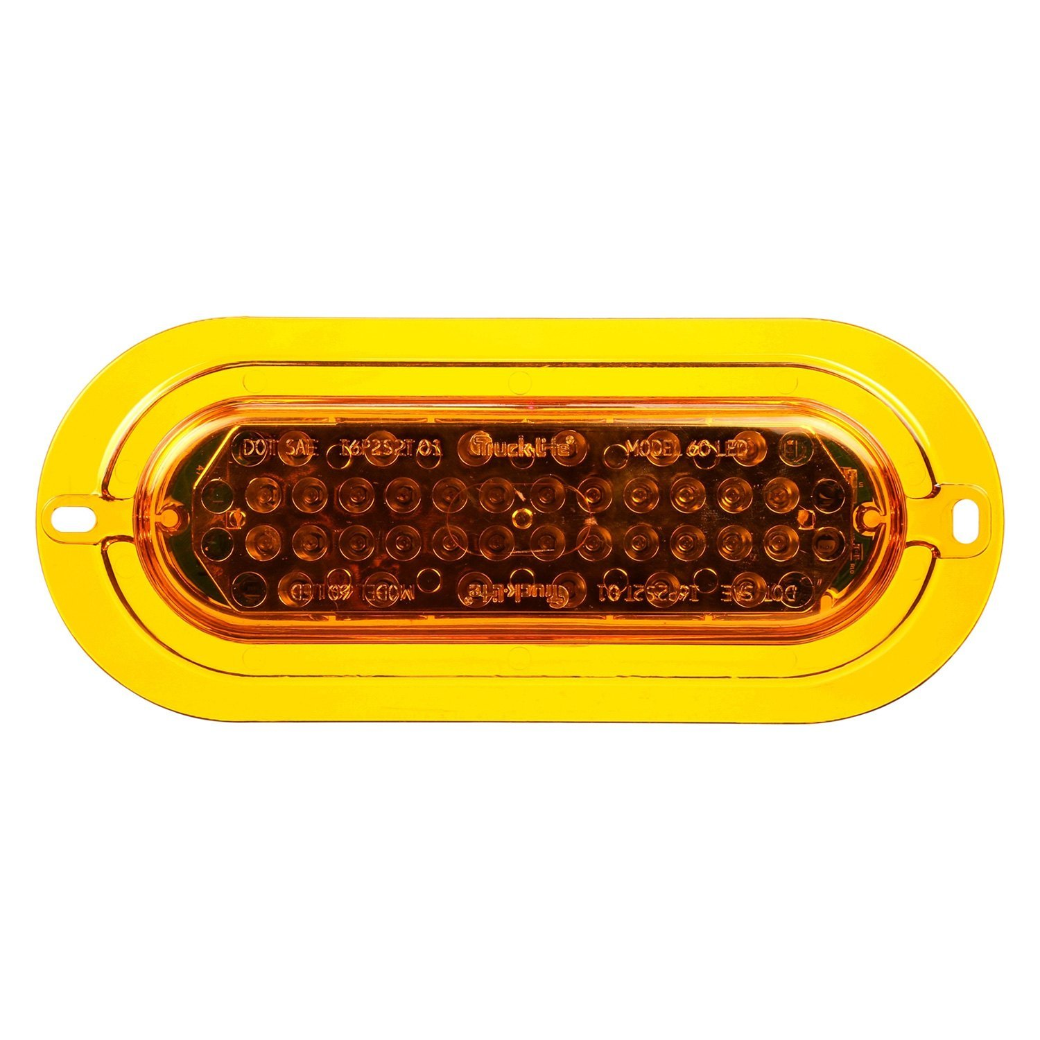 Yellow Led Lights Truck Lite 60364y Super 60 Flange Mount Yellow Led
