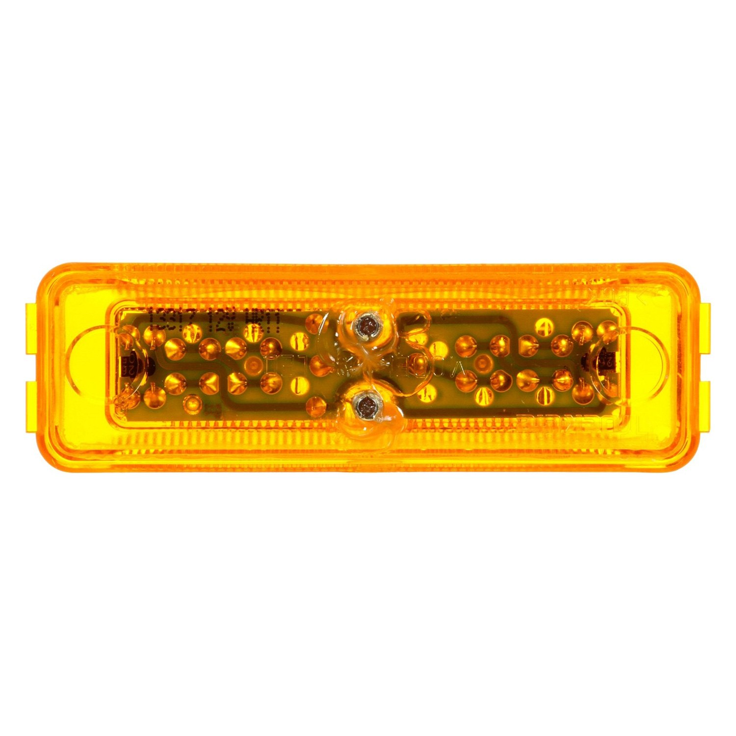 Yellow Led Lights Truck Lite 19250y 19 Series Yellow Rectangular 6 Led