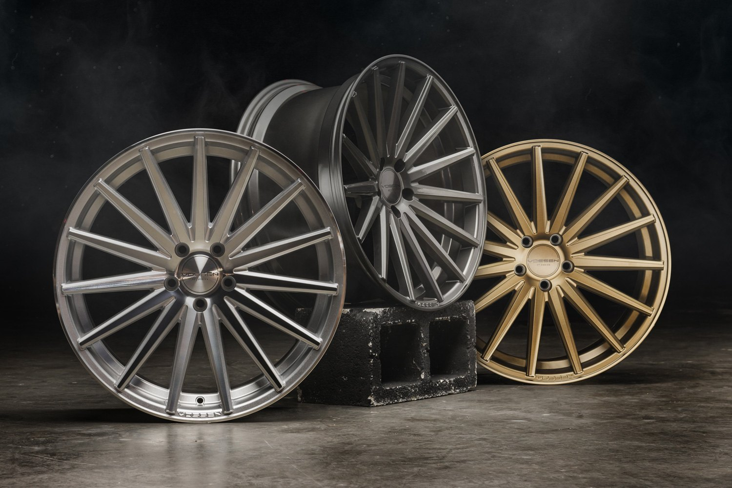 Vossen Handtücher Set Vossen® Vfs-2 Wheels - Satin Bronze Rims