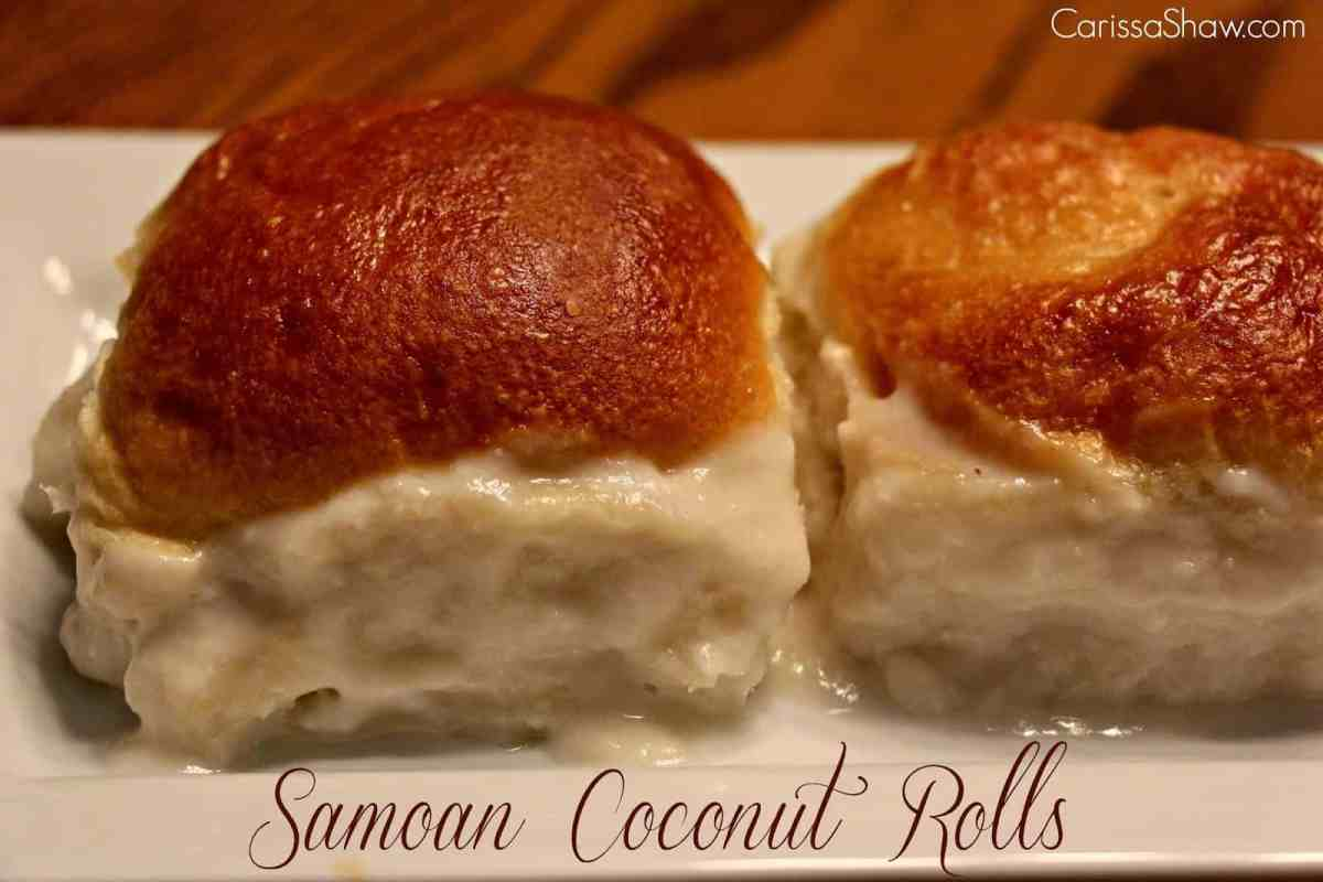 Samoan Coconut Rolls - Pani Popo