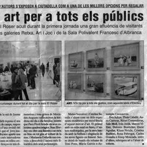 «Per Nadal, art per a tots els públics»
