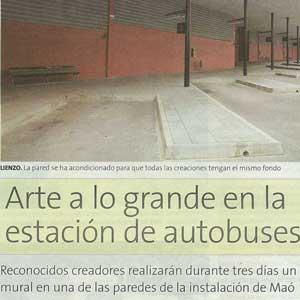«Arte a lo grande en la estación de autobuses»