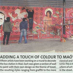 «Adding a touch of colour to Maó's bus station»