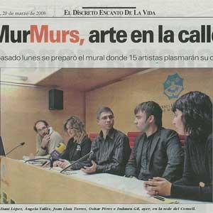 «Murmurs, arte en la calle»