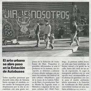 «El arte urbano se abre paso en la Estación de Autobuses»