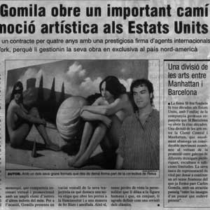 «La pintura de Carles Gomila s'obre camí als Estats Units»
