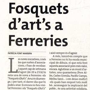 «Fosquets d'art's a Ferreries»