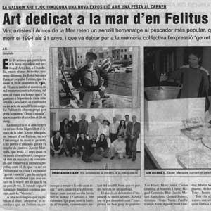 «Art dedicat a la mar d'en Felitus»
