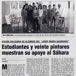 «Estudiantes y veinte pintores muestran su apoyo al Sahara»