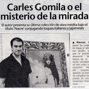 «Carles Gomila o el misterio de la mirada»