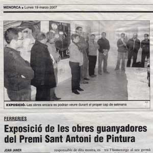 «Exposició de les obres guanyadores del Premi Sant Antoni de Pintura»