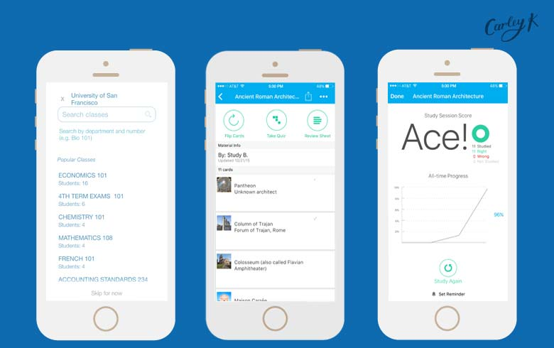 The app that turns your kid\u0027s smartphone into a study group Carley K - studyblue