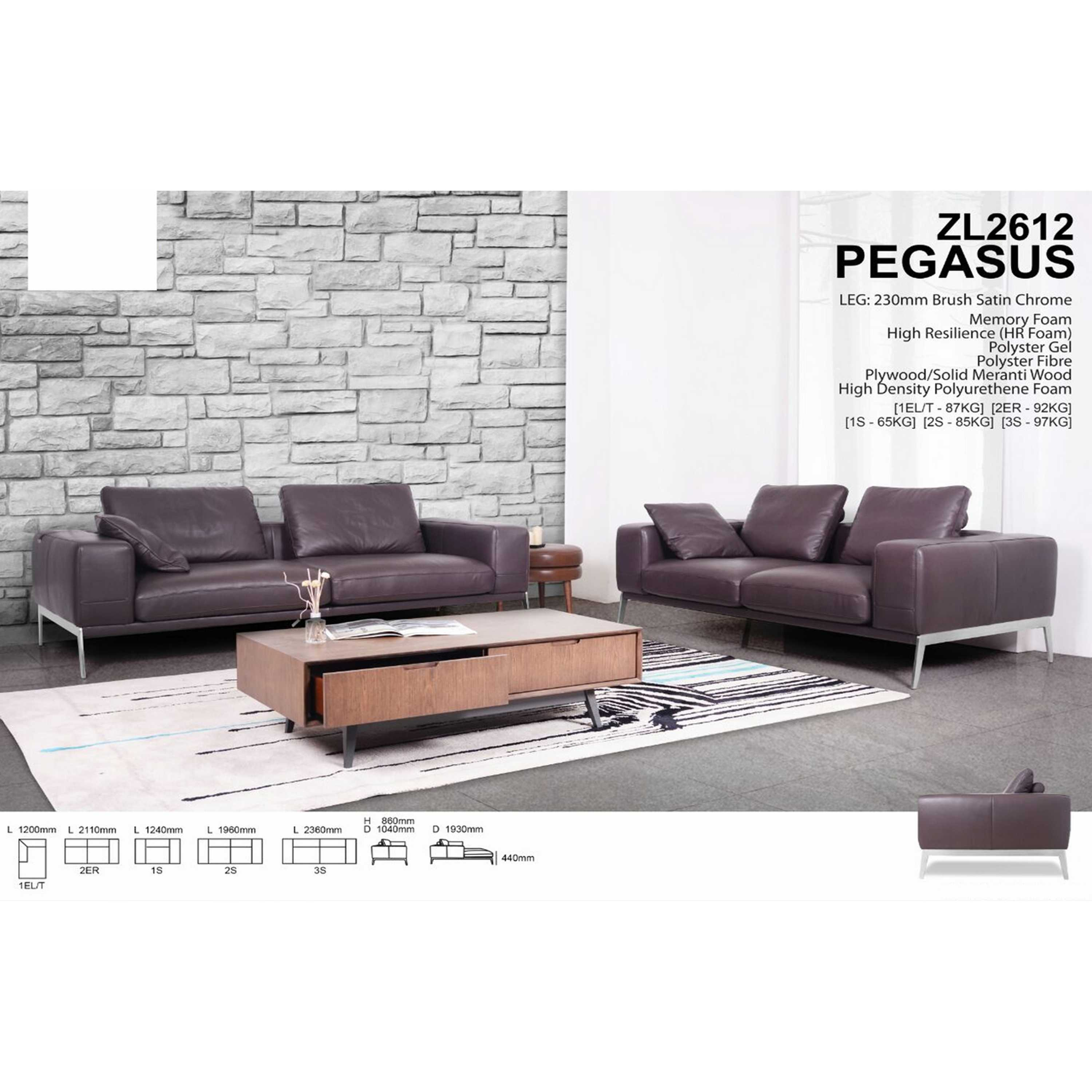 2er Sofas Zl2612 Pegasus Sofa 2 Seater 1960mm