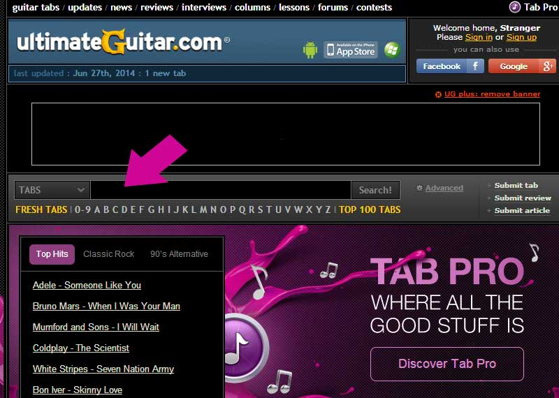 Ultimate Guitar Tabs Adele Someone Like You images