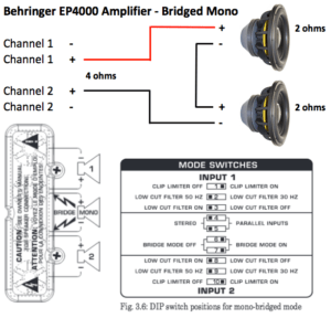 2 ohm subwoofer parallel wiring diagram