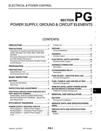 2011 Nissan Armada - Power Supply, Ground  Circuit Elements