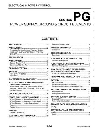 2014 Nissan Sentra - Power Supply, Ground  Circuit Elements