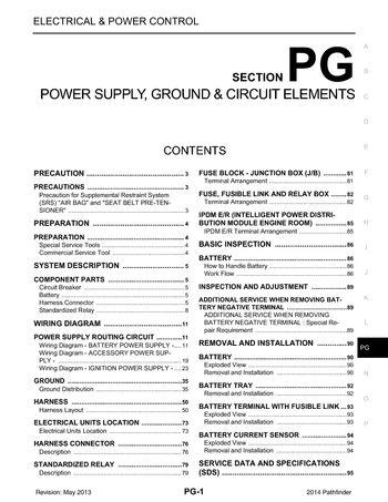 2014 Nissan Pathfinder - Power Supply, Ground  Circuit Elements