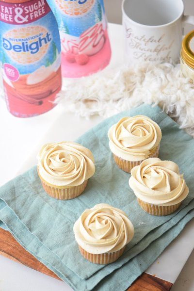 Pumpkin Cream Cheese Cupcakes with International Delight