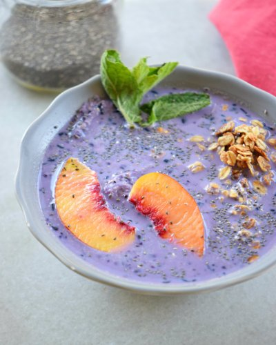 Heart Healthy Grape Smoothie Bowl