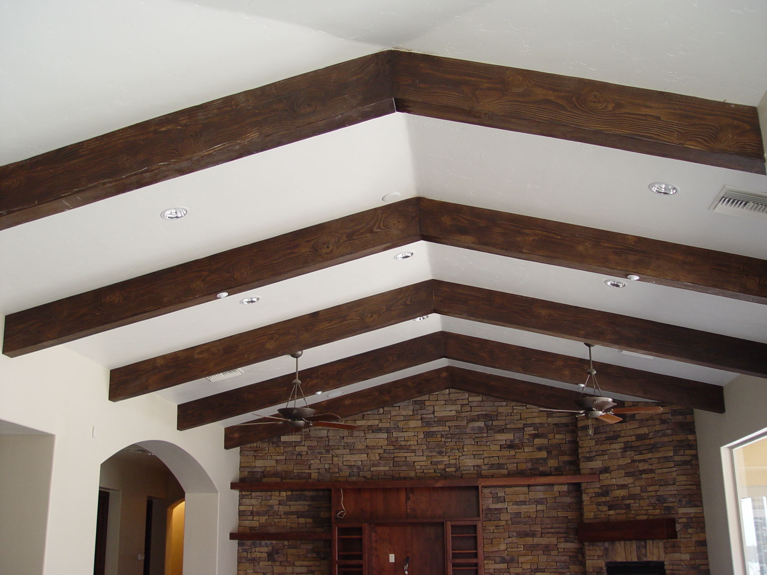 ELEVATE YOUR CEILINGS WITH FAUX WOOD BEAMS