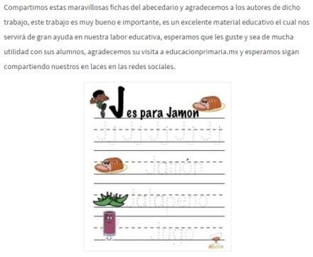 Tomado de: http://educacionprimaria.mx/fichas-abc-para-la-escritura-en ...