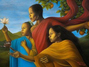 """Fruit of Generosity"" by Leslie Ansley (exhibited at the August Wilson Center for African American Culture in 2012)"