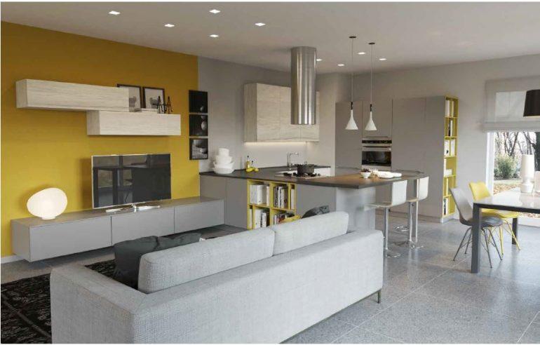 Cucina Soggiorno Open Space Country | 510 Cabin: 1000 Square Foot ...