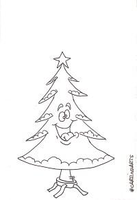 Disegni albero di natale da colorare - #CarmineArts