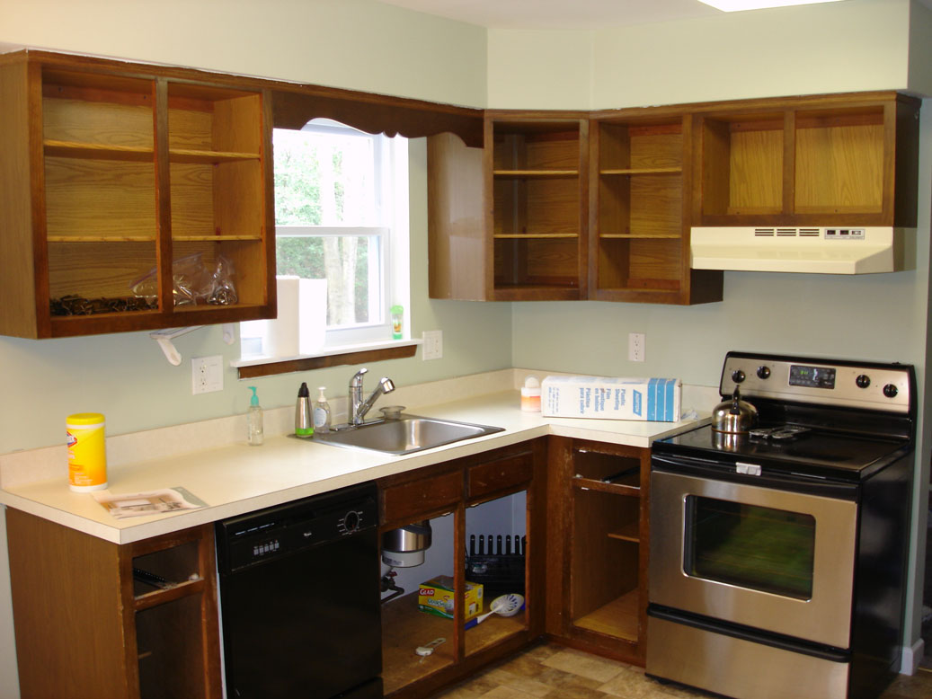 Resurfaced Kitchen Cabinets Before And After Refinish Oak Cabinets Home Design And Decor Reviews