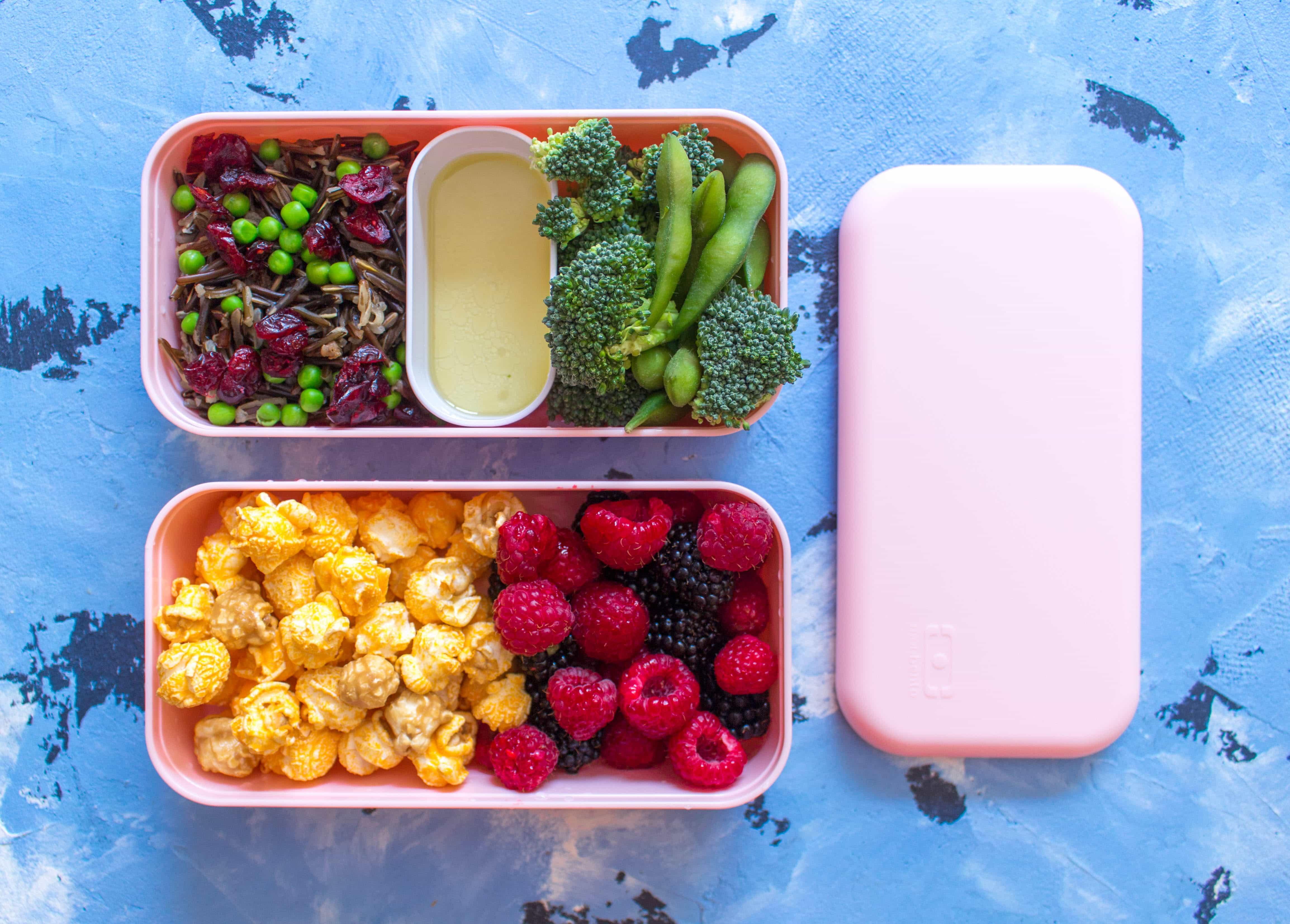 Bento Box Lunch Wild Rice Salad With Fruit Carmy Run
